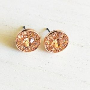 PAVE HALF AN INCH STATEMENT HALO STUD EARRINGS